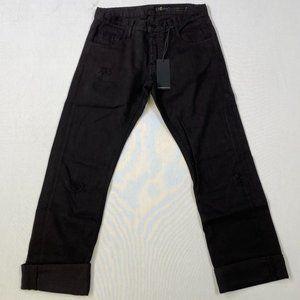 Black Orchid Boyfriend Jeans - Black Light Rips